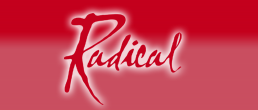 Radical Logo on red background
